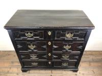 Antique 18th Century Jacobean Style Oak Chest of Drawers (4 of 13)