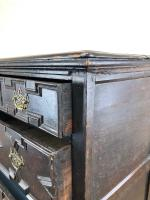 Antique 18th Century Jacobean Style Oak Chest of Drawers (12 of 13)