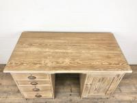 Antique Pitch Pine Kneehole Writing Desk (5 of 9)