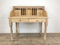 Vintage Stripped Pine Desk with Drawers (2 of 10)