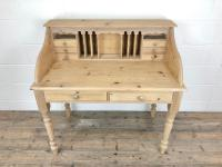 Vintage Stripped Pine Desk with Drawers (9 of 10)