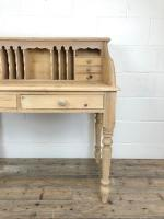 Vintage Stripped Pine Desk with Drawers (10 of 10)