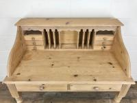 Vintage Stripped Pine Desk with Drawers (4 of 10)