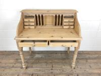 Vintage Stripped Pine Desk with Drawers (5 of 10)