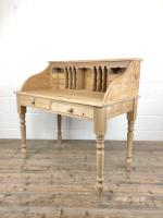 Vintage Stripped Pine Desk with Drawers (6 of 10)