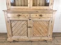 Late 19th Century Antique Pine Dresser with Glazed Top (2 of 8)