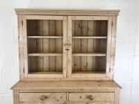 Late 19th Century Antique Pine Dresser with Glazed Top (3 of 8)