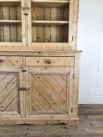 Late 19th Century Antique Pine Dresser with Glazed Top (4 of 8)