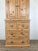 20th Century Pine Linen Press Cupboard (2 of 9)