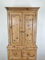 20th Century Pine Linen Press Cupboard (3 of 9)