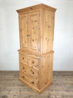 20th Century Pine Linen Press Cupboard (8 of 9)