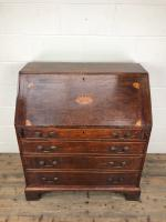 Antique Oak Bureau with Shell Inlay (2 of 15)