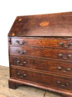 Antique Oak Bureau with Shell Inlay (4 of 15)
