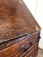 Antique Oak Bureau with Shell Inlay (5 of 15)