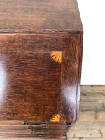 Antique Oak Bureau with Shell Inlay (6 of 15)