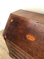 Antique Oak Bureau with Shell Inlay (7 of 15)