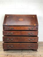 Antique Oak Bureau with Shell Inlay (8 of 15)