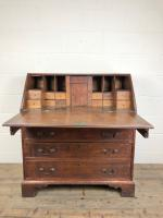 Antique Oak Bureau with Shell Inlay (9 of 15)