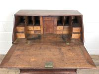 Antique Oak Bureau with Shell Inlay (10 of 15)