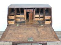 Antique Oak Bureau with Shell Inlay (11 of 15)