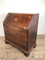 Antique Oak Bureau with Shell Inlay (12 of 15)