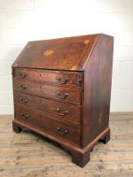 Antique Oak Bureau with Shell Inlay (13 of 15)