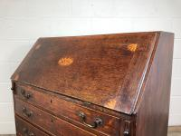 Antique Oak Bureau with Shell Inlay (14 of 15)
