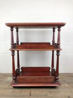 Antique Mahogany Three Tier Drinks Trolley (2 of 8)