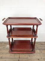Antique Mahogany Three Tier Drinks Trolley (3 of 8)