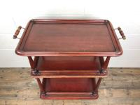 Antique Mahogany Three Tier Drinks Trolley (4 of 8)