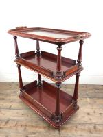 Antique Mahogany Three Tier Drinks Trolley (7 of 8)