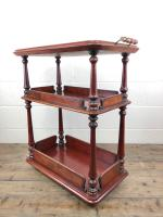 Antique Mahogany Three Tier Drinks Trolley (8 of 8)