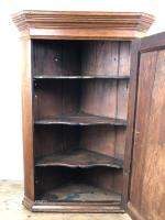 19th Century Antique Oak Corner Cupboard (5 of 6)