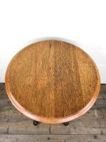 Vintage Circular Pub Style Table on Cast Iron Base (3 of 7)