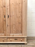 Antique Pine Flat Pack Double Wardrobe (2 of 10)
