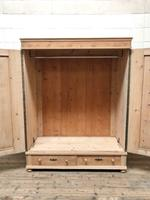 Antique Pine Flat Pack Double Wardrobe (5 of 10)