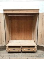 Antique Pine Flat Pack Double Wardrobe (7 of 10)