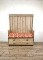 Rustic Antique Pine High Back Tavern Settle (2 of 13)