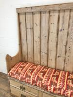 Rustic Antique Pine High Back Tavern Settle (8 of 13)