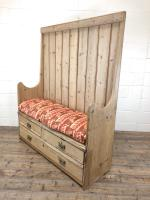 Rustic Antique Pine High Back Tavern Settle (10 of 13)