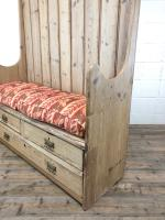 Rustic Antique Pine High Back Tavern Settle (11 of 13)