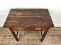 Antique Oak Console Table with Drawers (3 of 8)