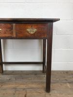 Antique Oak Console Table with Drawers (4 of 8)