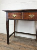 Antique Oak Console Table with Drawers (5 of 8)