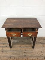 Antique Oak Console Table with Drawers (6 of 8)