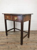 Antique Oak Console Table with Drawers (7 of 8)