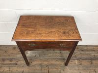 Antique Oak Console Table with Drawer (3 of 9)