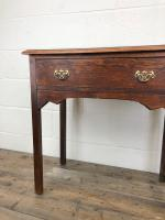 Antique Oak Console Table with Drawer (5 of 9)
