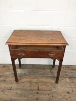 Antique Oak Console Table with Drawer (6 of 9)