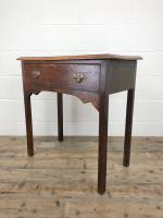 Antique Oak Console Table with Drawer (7 of 9)